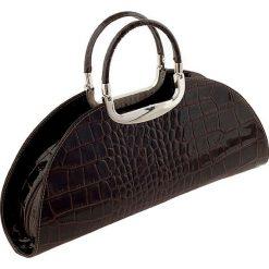 Torebki klasyczne damskie: Skórzana torebka w kolorze ciemnobrązowym – 41 x 17 x 10 cm
