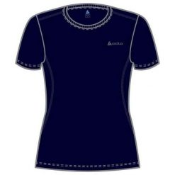 Bluzki damskie: Odlo Koszulka damska Catherine Crew Neck granatowa r. S (200841)