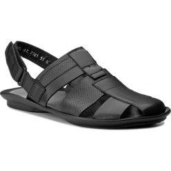Sandały WOJAS - 7301-51 Czarny. Czarne sandały męskie skórzane Wojas. Za 219,00 zł.