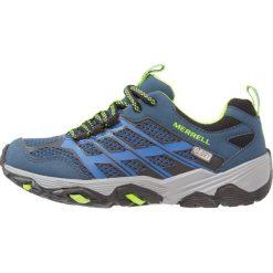 Merrell MOAB FAST LOW Obuwie hikingowe navy/blue. Niebieskie buty sportowe chłopięce marki Merrell, z materiału. Za 269,00 zł.