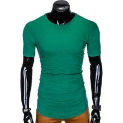 T-SHIRT MĘSKI BEZ NADRUKU S998 - ZIELONY. Zielone t-shirty męskie z nadrukiem marki QUECHUA, m, z elastanu. Za 19,99 zł.