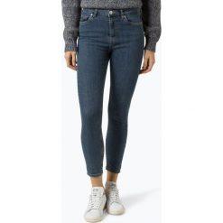 Review - Jeansy damskie, niebieski. Szare spodnie z wysokim stanem marki Review, l, z tkaniny, z okrągłym kołnierzem. Za 179,95 zł.