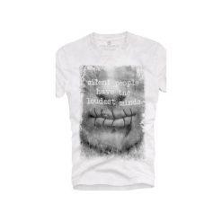 T-shirt UNDERWORLD Ring spun cotton Usta. Szare t-shirty męskie z nadrukiem marki Underworld, m, z bawełny. Za 59,99 zł.