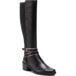 Kozaki CAPRICE - 9-25513-21 Black Nappa 022. Czarne buty zimowe damskie Caprice, z materiału, przed kolano, na wysokim obcasie, na obcasie. W wyprzedaży za 339,00 zł.