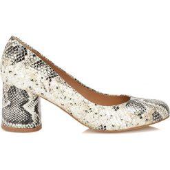 Buty ślubne damskie: Beżowe czółenka damskie