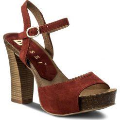 Sandały damskie: Sandały NESSI - 18340 Burgund 19
