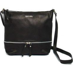 Torebki klasyczne damskie: Skórzana torebka w kolorze czarnym – 24 x 32 x 11 cm