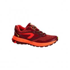 Buty do biegania KIPRUN TRAIL TR damskie. Czerwone buty do biegania damskie marki KALENJI, z gumy. Za 179,99 zł.