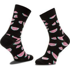 Skarpety Wysokie Damskie HAPPY SOCKS - WAT01-9000 Czarny. Czarne skarpetki damskie Happy Socks, z bawełny. Za 34,90 zł.