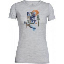 Icebreaker Koszulka Sportowa Wmns Tech Lite Ss Crewe Lets Get Lost Blizzard Hthr L. Szare topy sportowe damskie Icebreaker, l, z nylonu, z krótkim rękawem. W wyprzedaży za 199,00 zł.