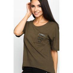 T-shirty damskie: Khaki T-shirt Virtual World