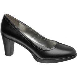 Czółenka damskie Graceland czarne. Czarne buty ślubne damskie Graceland, z materiału, na obcasie. Za 99,90 zł.