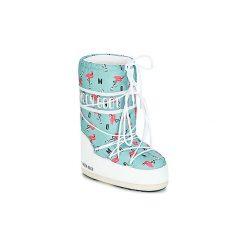 Śniegowce Dziecko Moon Boot  GIRL FLAMINGO. Niebieskie kozaki dziewczęce marki Timberland, z gumy. Za 329,00 zł.