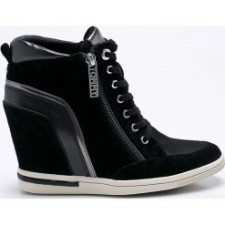 Tommy Hilfiger - Buty. Czarne buty sportowe damskie marki TOMMY HILFIGER, z bawełny. Za 599,90 zł.