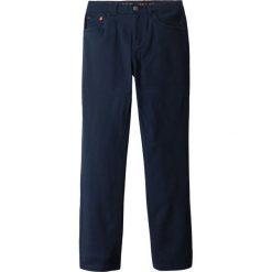 Spodnie twillowe Slim Fit bonprix ciemnoniebieski. Niebieskie spodnie chłopięce marki bonprix, z materiału. Za 49,99 zł.