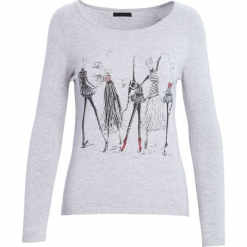 Ciemnoszary Sweter Thin Lines. Szare swetry klasyczne damskie Born2be, na jesień, l. Za 49,99 zł.