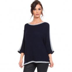 """Sweter """"Cecile"""" w kolorze granatowym. Niebieskie swetry klasyczne damskie marki Cosy Winter, s, ze splotem, z okrągłym kołnierzem. W wyprzedaży za 159,95 zł."""