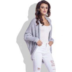Swetry damskie: Szara Stylowa Melanżowa Narzutka
