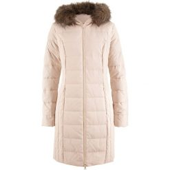 Płaszcze damskie: Lekki płaszcz puchowy pikowany bonprix piaskowy beżowy