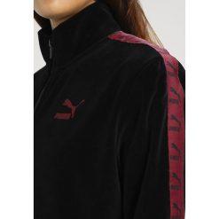 Bluzy damskie: Puma TRACK  Bluza rozpinana black /cordovan