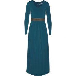 Sukienka wieczorowa bonprix niebieskozielony morski. Zielone sukienki koktajlowe bonprix. Za 159,99 zł.