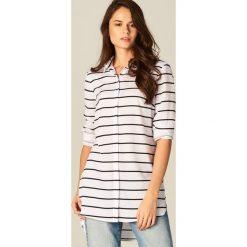Koszule damskie: Długa koszula w paski – Wielobarwn
