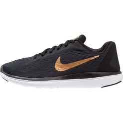 Buty do biegania damskie: Nike Performance FLEX RUN 2017 Obuwie do biegania treningowe black/metallic gold/white