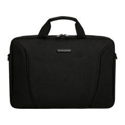 Torby na laptopa: Torba w kolorze szaro-czarnym na laptopa – (S)28 x (W)40 x (G)5 cm