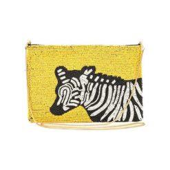 Kopertówki damskie: Kopertówka w kolorze żółto-biało-czarnym – (D)25 x (S)15 cm