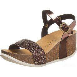 Rzymianki damskie: Sandały w kolorze brązowym
