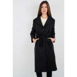 Płaszcze damskie: Długi płaszcz z paskiem