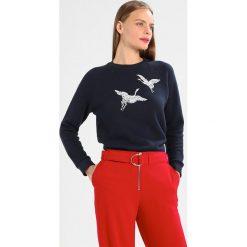 Bluzy rozpinane damskie: Whistles CRANE EMBROIDERED Bluza navy