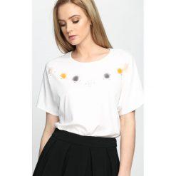 Biały T-shirt Think About Is You. Białe bluzki damskie marki Born2be, l. Za 29,99 zł.