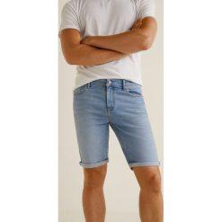 Mango Man - Szorty Rock3. Szare szorty męskie marki Mango Man, z bawełny, casualowe. W wyprzedaży za 69,90 zł.