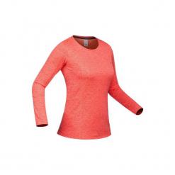 Podkoszulka narciarska 500 damska. Czerwone podkoszulki damskie marki WED'ZE, m, z materiału. Za 49,99 zł.