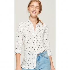 Wzorzysta koszula - Kremowy. Białe koszule damskie marki Sinsay, l. Za 39,99 zł.