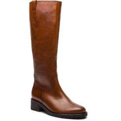 Oficerki GABOR - 96.097.52 Whisky (Mel). Brązowe buty zimowe damskie marki Gabor, ze skóry ekologicznej, przed kolano, na wysokim obcasie. W wyprzedaży za 549,00 zł.