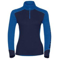 Odlo Koszulka tech. Shirt l/s turtle neck 1/2 zip WARM Revel - 150671 - 150671/20354/S. Niebieskie koszulki sportowe męskie marki Odlo, l. Za 180,04 zł.