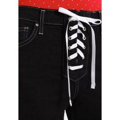 Topshop B&B CONTRAST LACE UP JAMIE Jeans Skinny Fit washed black. Czarne rurki damskie Topshop. W wyprzedaży za 191,40 zł.