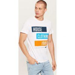 T-shirt Biały. Czarne t-shirty męskie marki House, l, z nadrukiem. Za 35,99 zł.