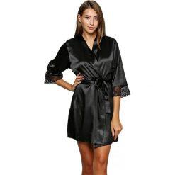 Szlafroki kimona damskie: Szlafrok w kolorze czarnym
