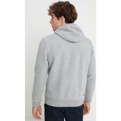 Napapijri BURGEE Bluza z kapturem med grey melange. Szare bluzy męskie rozpinane marki Napapijri, l, z materiału, z kapturem. Za 429,00 zł.