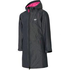 Kurtka 3w1 dla dużych dziewcząt JKUD206 - ciemny szary melanż. Szare kurtki chłopięce przeciwdeszczowe marki 4F JUNIOR, na lato, melanż, z materiału. Za 169,99 zł.