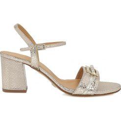 Rzymianki damskie: Złote sandały damskie
