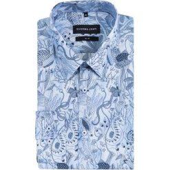 Koszula SIMONE slim KDWS000466. Niebieskie koszule męskie jeansowe marki Giacomo Conti, na lato, l, z klasycznym kołnierzykiem. Za 259,00 zł.