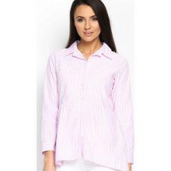 Różowa Koszula Ups And Downs. Szare koszule damskie marki Silvian Heach, l, z dzianiny, z włoskim kołnierzykiem. Za 49,99 zł.