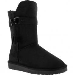 """Kozaki zimowe """"Crawford"""" w kolorze czarnym. Czarne kowbojki damskie Island Boot, z materiału, na platformie. W wyprzedaży za 165,95 zł."""