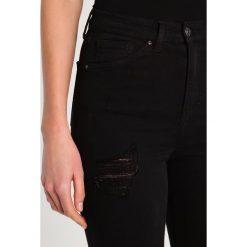 Topshop Tall JAMIE  Jeans Skinny Fit black. Czarne rurki damskie Topshop Tall. W wyprzedaży za 174,30 zł.