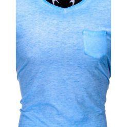 T-SHIRT MĘSKI BEZ NADRUKU S674 - NIEBIESKI. Niebieskie t-shirty męskie z nadrukiem Ombre Clothing, m, z bawełny. Za 24,99 zł.