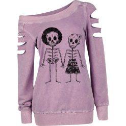 Bluzy damskie: Outer Vision Skeleton Lovers Bluza damska jasnoróżowy (Light Pink)